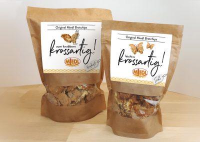 Bäckerei Miedl Brotchips-Verpackung