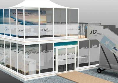 Entwurf des JT2 Messestand