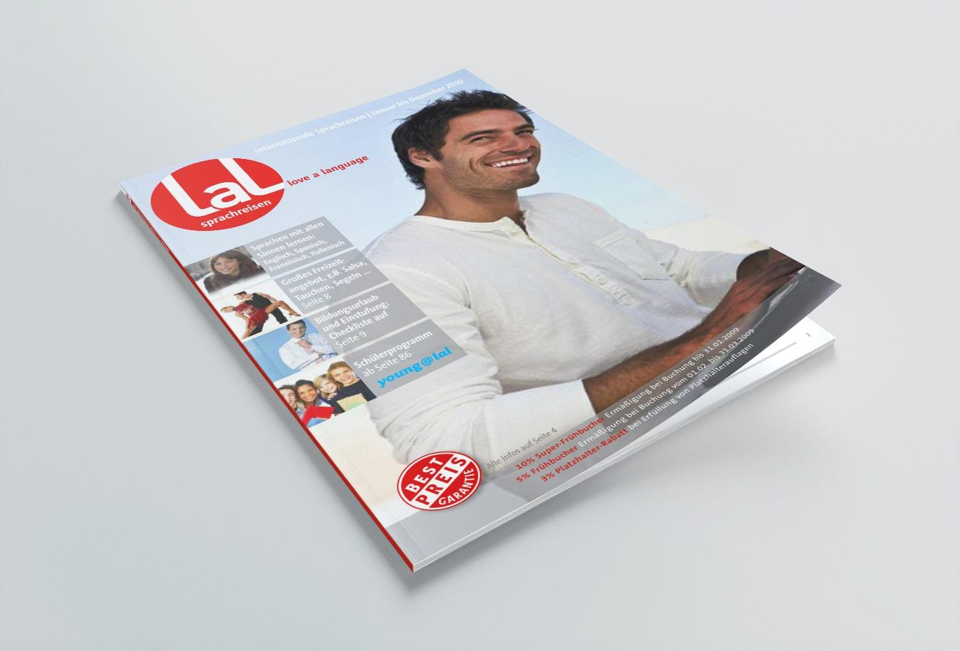 LAL Sprachreisen Magazinlayout
