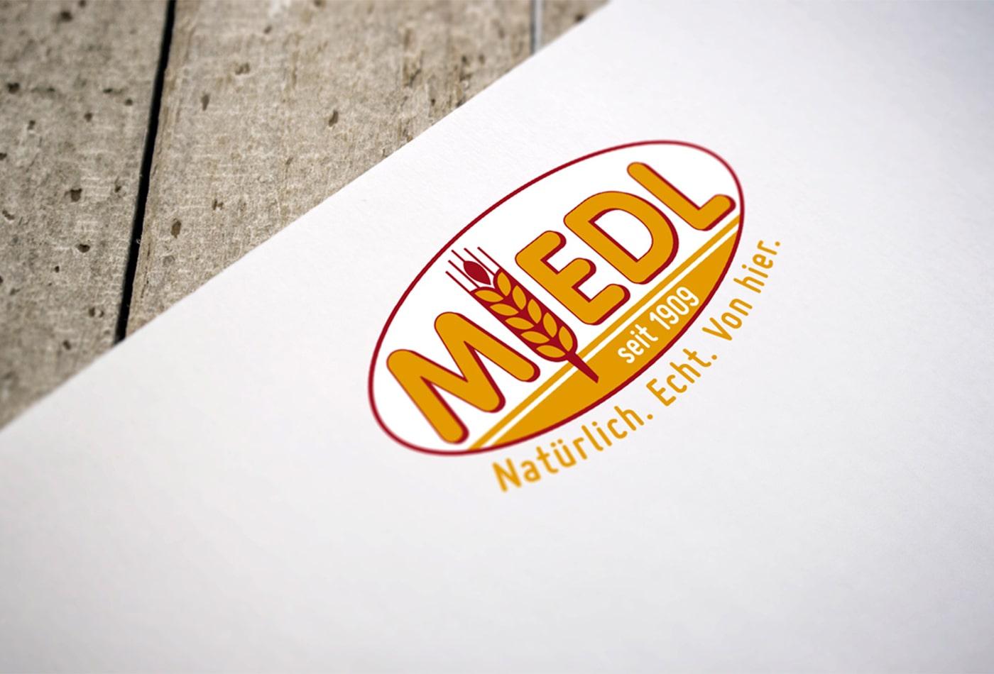 Miedl Logoentwicklung