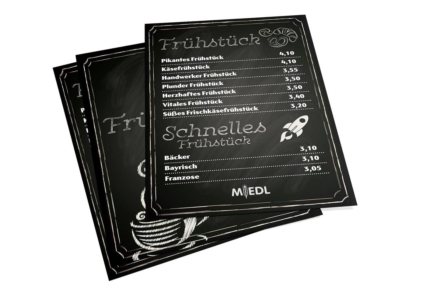 Miedl Frühstückskarten