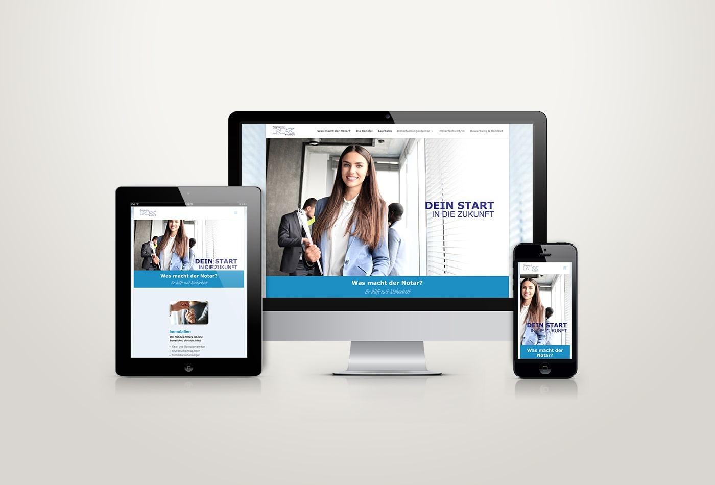 Notarkammer Frankfurt Webdesign