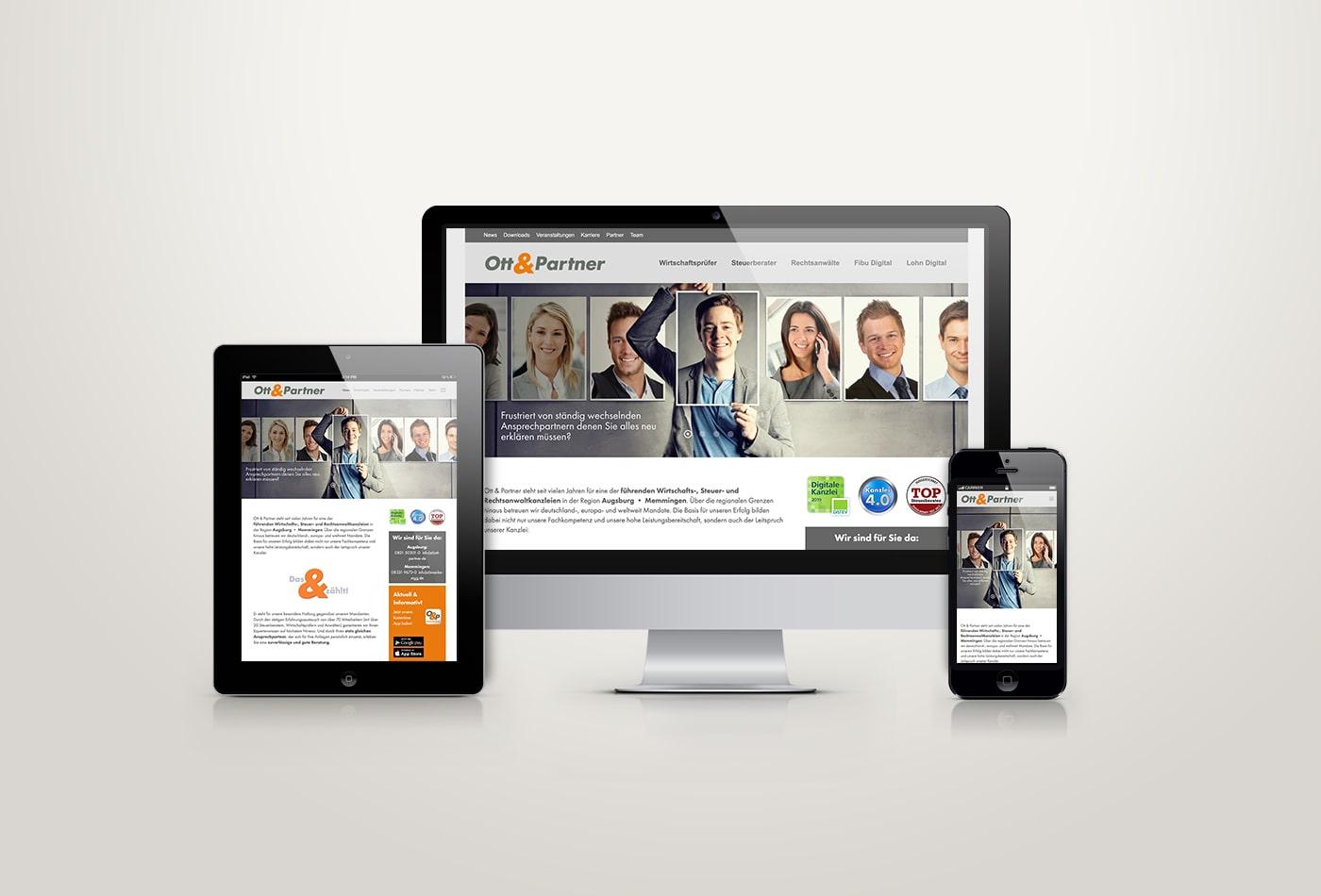 Ott&Partner Webdesign