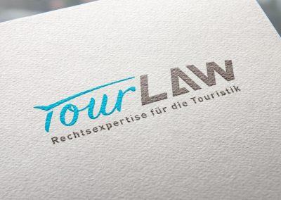 TourLaw Logo und Corporate Design Entwicklung